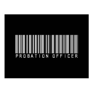 Probation Officer Bar Code Postcard