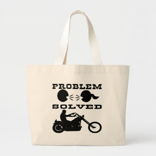 Problem Solved Biker #004 Canvas Bags