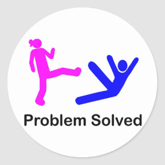 Problem Solved Classic Round Sticker