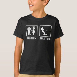 Problem solved cool man with paddle kayaking T-Shirt