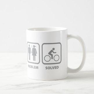 Problem Solved Cycling Basic White Mug