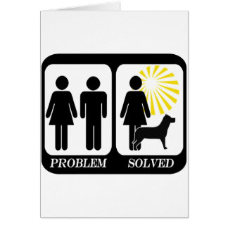 Problem solved dog owner lady card
