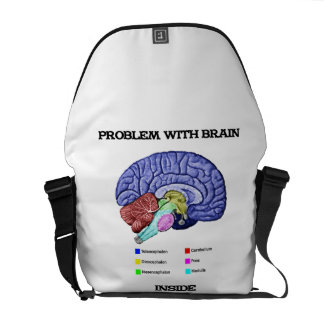 Problem With Brain Inside (Brain Anatomy) Commuter Bags