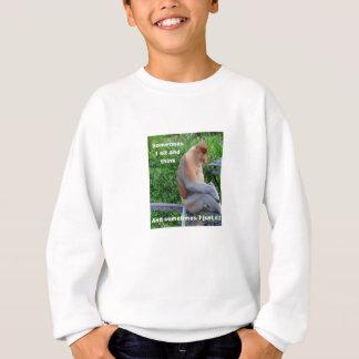 Proboscis Monkey - Sometimes I Sit and Think Sweatshirt