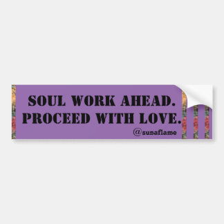 PROCEED WITH LOVE BUMPER STICKER