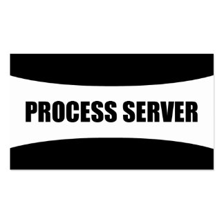 Process Server Business Card
