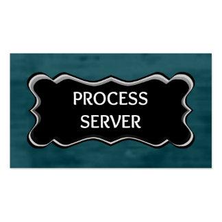 Process Server Elegant Name Plate Business Card Templates
