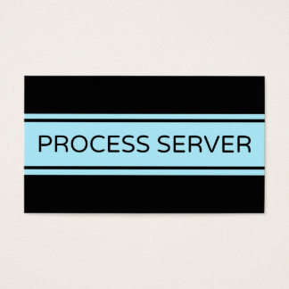 Process Server Stripe Business Card