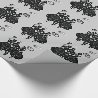 Process Steampunk Silhouette Wrapping Paper