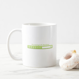 Processing life decisions Coffee Mug small text