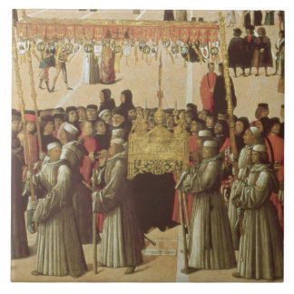 Procession in the St. Mark's Square, detail of the Ceramic Tile