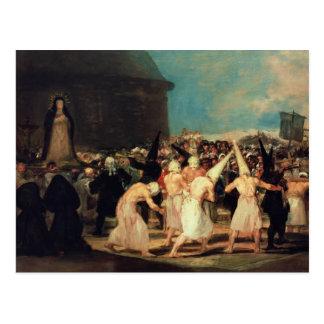 Procession of Flagellants, 1815-19 Postcard