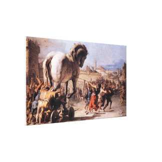Procession of the Trojan Horse Canvas Print