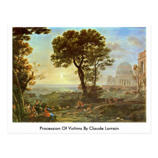 Procession Of Victims By Claude Lorrain Post Card