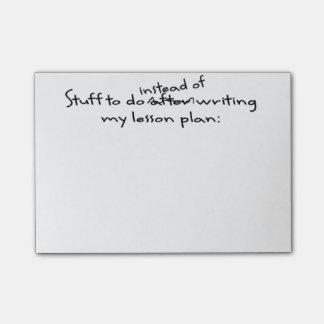 Procrastinating Teacher's Post-It Note