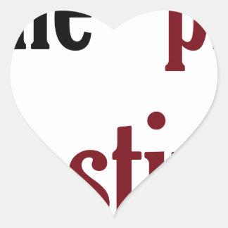 Procrastination Heart Sticker