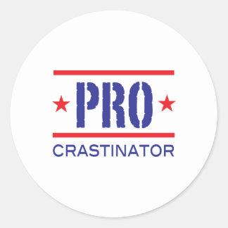 PROcrastinator_ Classic Round Sticker