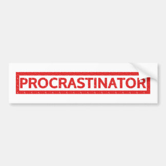Procrastinator Stamp Bumper Sticker