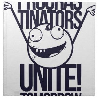 procrastinators unite tomorrow napkin