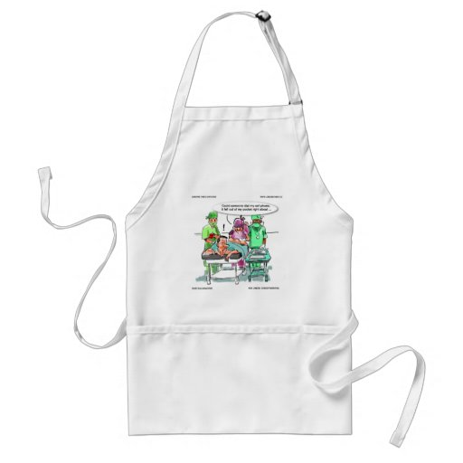 Proctologist Loses Cell Phone Funny Aprons