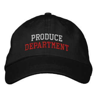 Produce Department Embroidered Baseball Cap