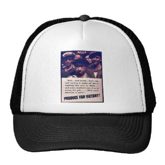 Produce For Victory! Trucker Hats