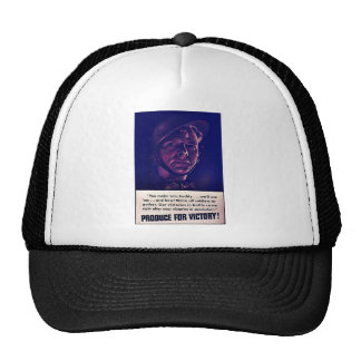 Produce For Victory Mesh Hats