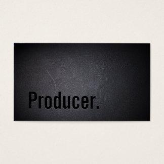 Producer Elegant Dark Professional Minimalist Business Card