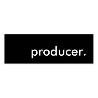 producer. pack of skinny business cards