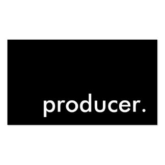 producer. pack of standard business cards