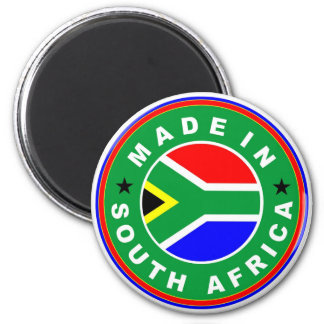 product country flag label made in south africa 6 cm round magnet