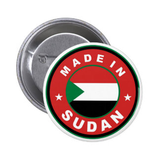 product country flag label made in sudan pinback buttons
