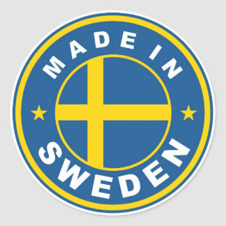 product country flag label made in sweden