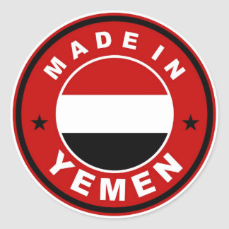 product country flag label made in yemen