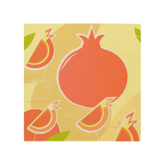Product design : Wood wall art with Fruit