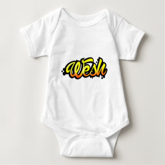 Product graffiti wesh baby bodysuit