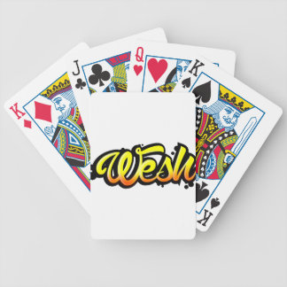 Product graffiti wesh bicycle playing cards