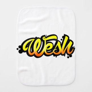 Product graffiti wesh burp cloth