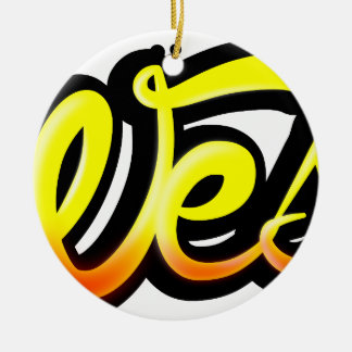 Product graffiti wesh ceramic ornament