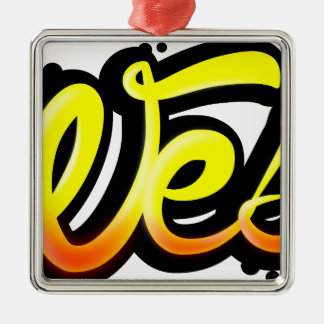 Product graffiti wesh metal ornament