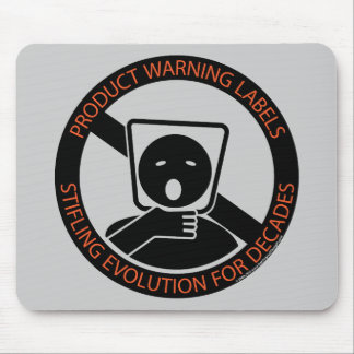 Product-warning-labels Mouse Pad