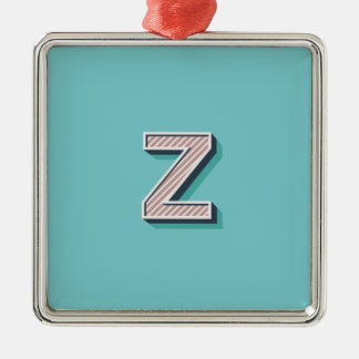 Product with letter Z Metal Ornament