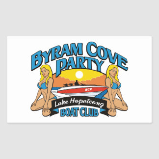Products for the Byram Cove Party (BCP). Rectangle Stickers