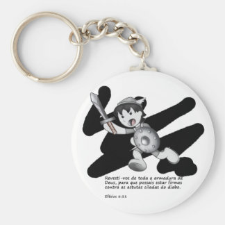Products with illustrations of the armor of God Basic Round Button Key Ring