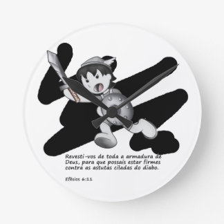 Products with illustrations of the armor of God Round Clock