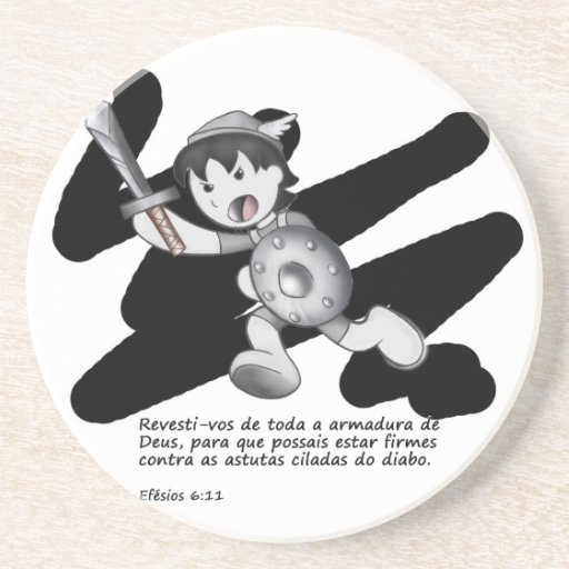 Products with illustrations of the armor of God Drink Coasters