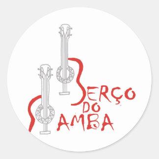 Produtos Berço do Samba Round Sticker
