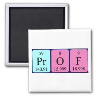 Prof periodic table name magnet