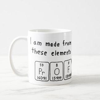 Prof periodic table name mug