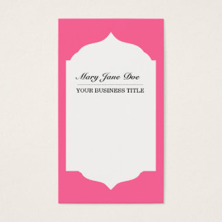 Profesional Plain & Simple  Pink Business Cardf